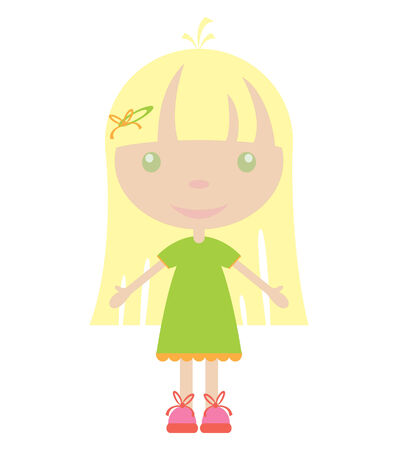 illustration of cute girl Stock Vector - 7257925