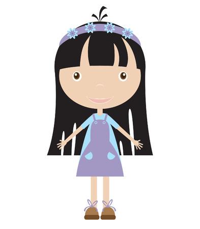 illustration of cute girl Stock Vector - 7257933