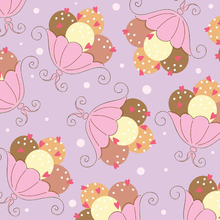 Seamless wallpaper with ice-cream