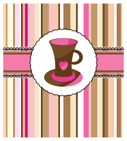 postcard design: card with cup Illustration