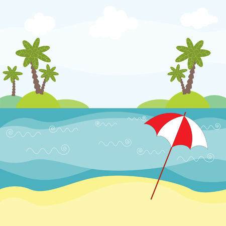 illustration of summer Vector