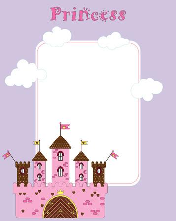card for little princess Vector