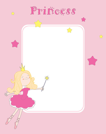 beautiful princess: Princess card Illustration