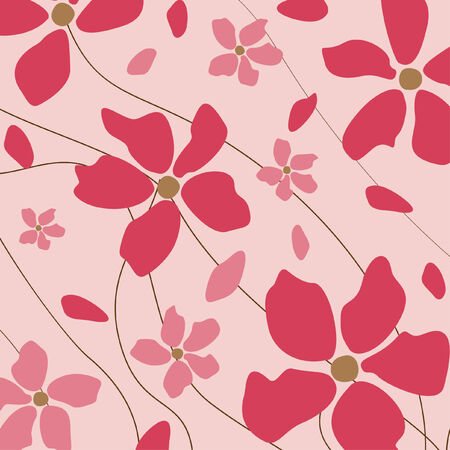 Floral pink background Stock Vector - 7257928