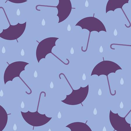 Seamless wallpaper with umbrellas Vector