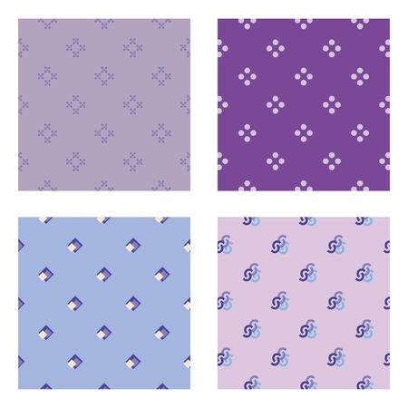 rhomb: Four seamless wallpaper pattern