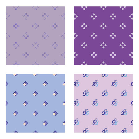 Four seamless wallpaper pattern
