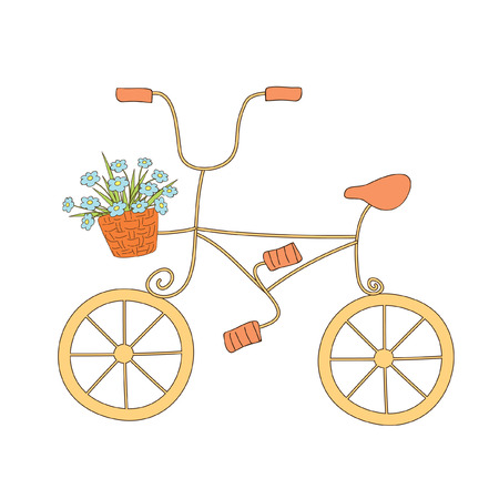 cute illustration of bicycle