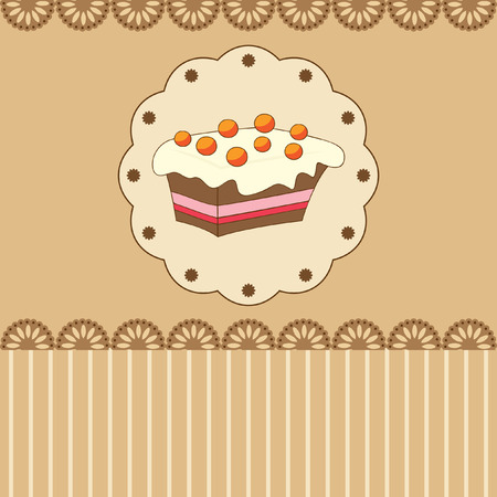 icing: card with peace of cake Illustration