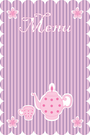 illustration of menu Vector