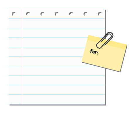 sticky note: Blank paper with sticker note