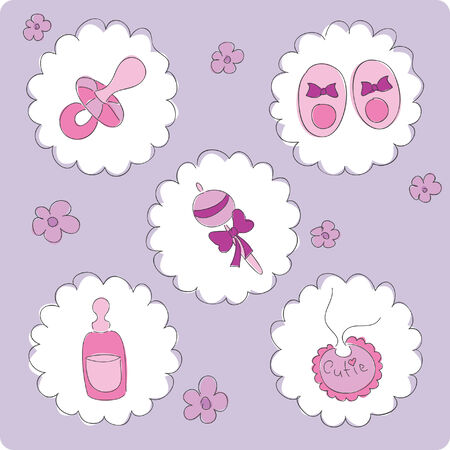 bootees: Baby elements for girl
