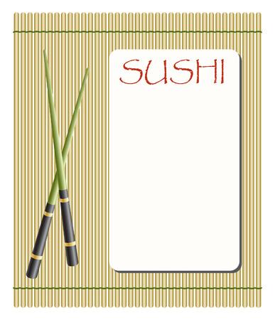 sushi: menu voor sushi en rollen