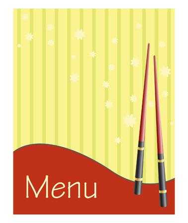 menu voor sushi en broodjes
