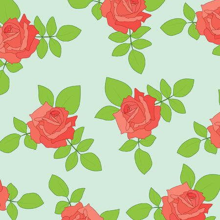 Nice seamless with roses Vector