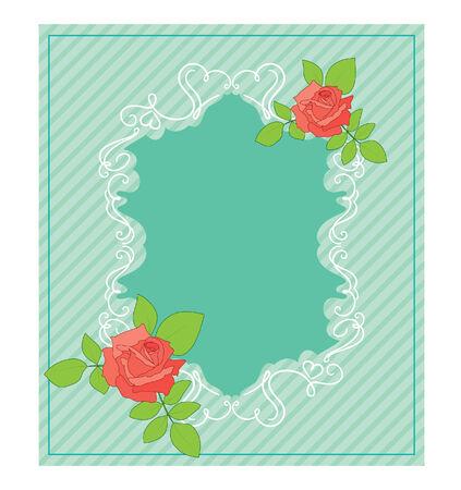 vintage background: Vintage card with roses