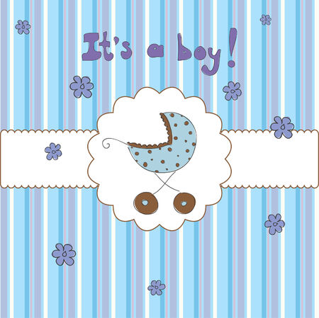 card for baby shower Stock Vector - 7576598