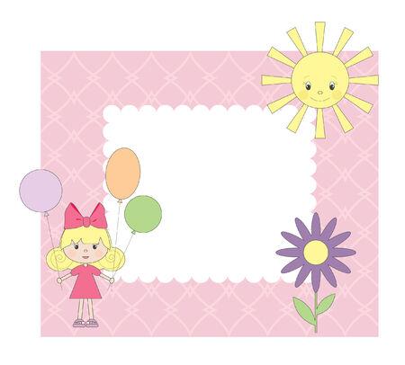 frame:   photo frame for girl