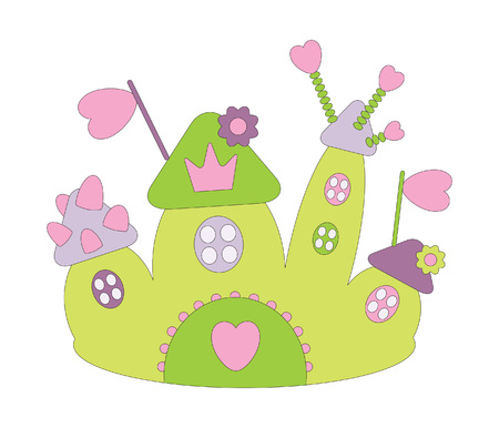 illustration of funny castle Vector