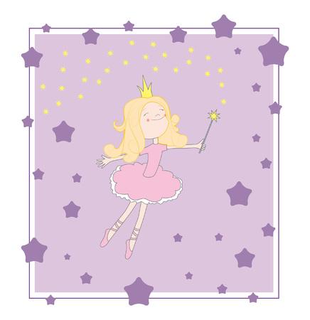 Princess purple card Vector