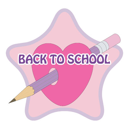 sign back to school Stock Vector - 7661730