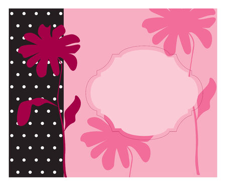 pink invitation Stock Vector - 7661731