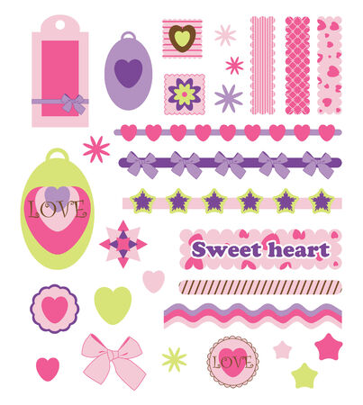 Scrap booking  Vector