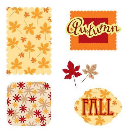 autumn scrapbook Stock Vector - 7661690