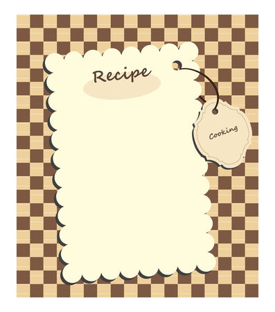 recipe book:   card for recipe