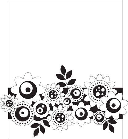 Zwart-wit bloemen achtergrond Stockfoto - 7742588