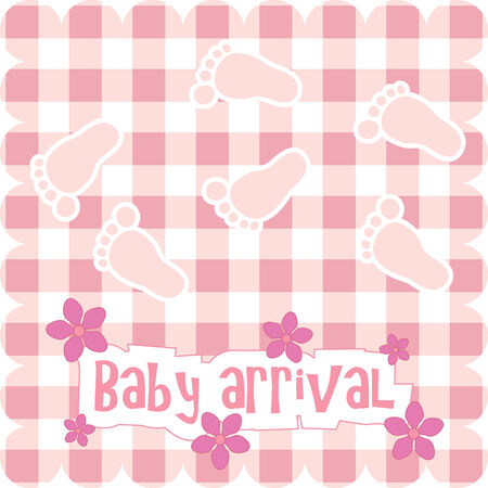 card for baby girl Stock Vector - 7776309