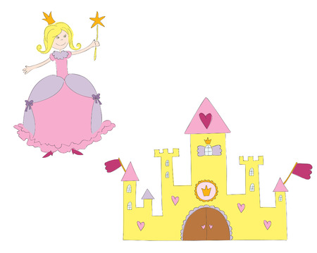 heart with crown: Hand drawn  illustration