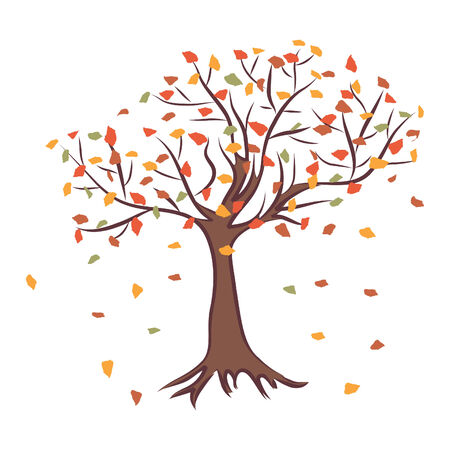 Autumn tree.  illustration