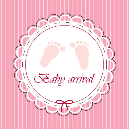card for baby girl  Stock Vector - 7821729