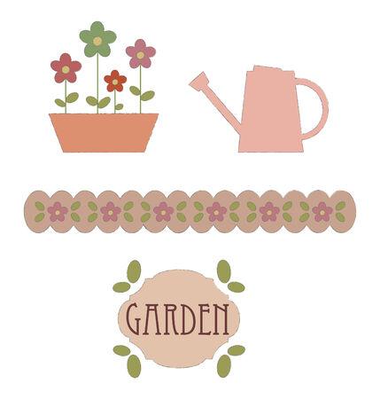 Garden elements.  illustration Vector