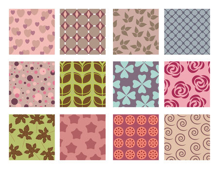 floral and geometrical background pattern