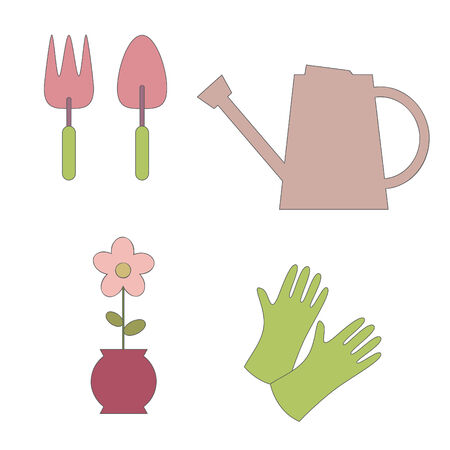 raising cans: Garden elements. illustration Illustration