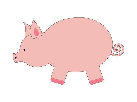 面白い豚のイラスト