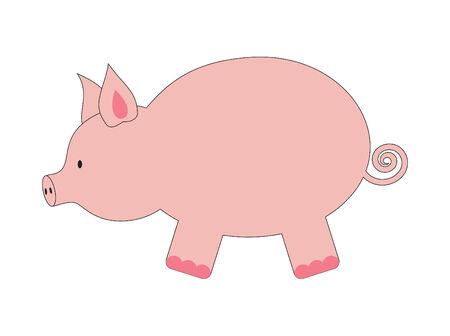 illustration of funny pig Vector