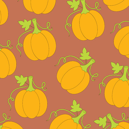 Wallpaper pattern with pumpkins