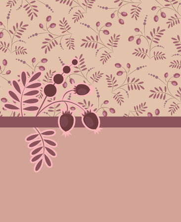 background pattern with berries Stock Vector - 7958140
