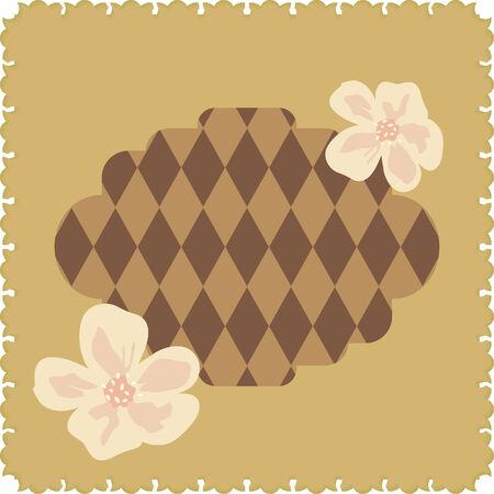 rhomb: Brown floral card