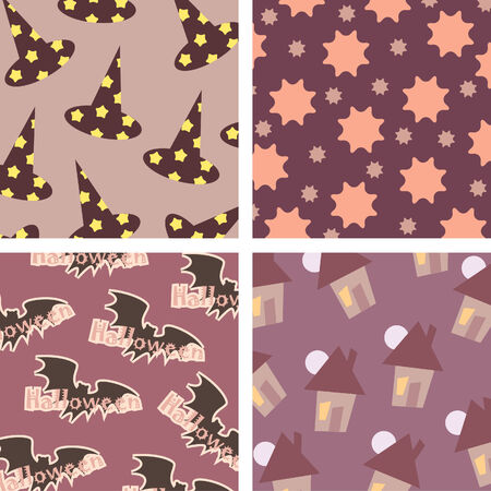 Halloween backgrounds pattern Vector