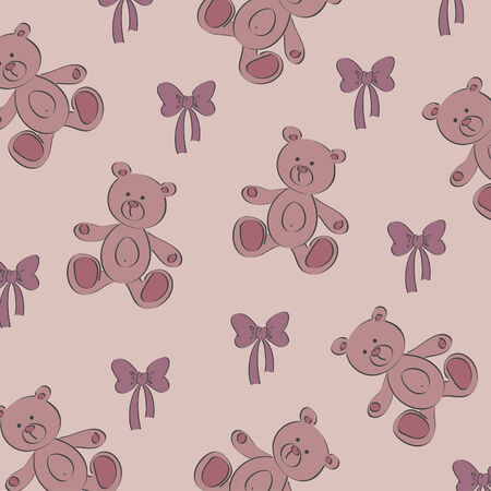 Seamless child's vector background