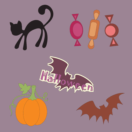Halloween objects Stock Vector - 8031647