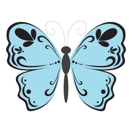 Blue butterfly 스톡 콘텐츠 - 8068745
