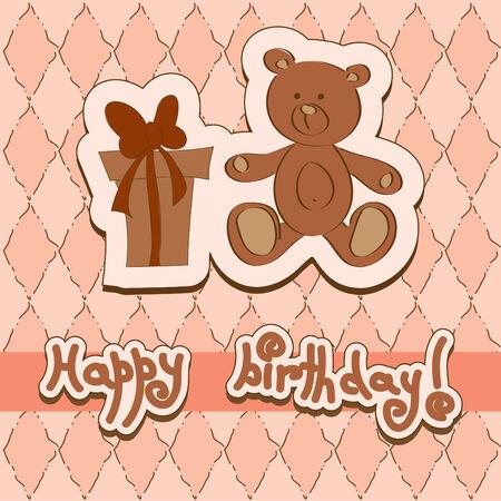 Tarjeta de cumpleaños  Foto de archivo - 8068756