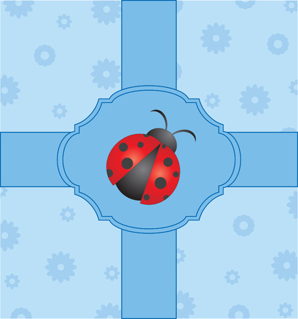 cute card with ladybug