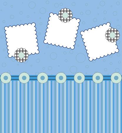 decoration: Blue blank card