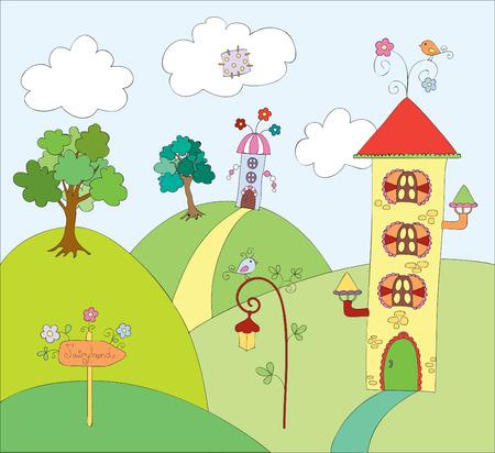 Fairyland. illustration Stock Vector - 8195627